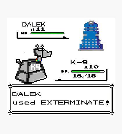 Doctor Who Pokemon Battle Photographic Print