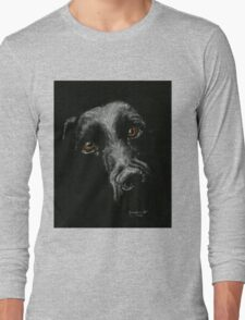 Sad Brown Eyes Long Sleeve T-Shirt