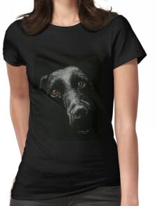 Sad Brown Eyes Womens Fitted T-Shirt
