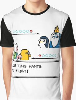 Adventure Time Pokemon Battle Graphic T-Shirt