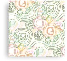 Funky Retro Psychedelic Pattern Crayon Style Canvas Print