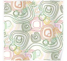 Funky Retro Psychedelic Pattern Crayon Style Poster