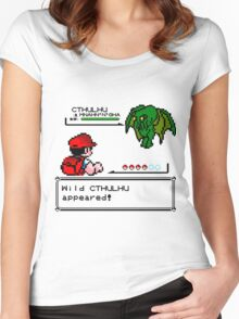 Cthulhu Pokemon Battle Women's Fitted Scoop T-Shirt