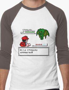 Cthulhu Pokemon Battle Men's Baseball ¾ T-Shirt