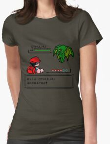 Cthulhu Pokemon Battle Womens Fitted T-Shirt