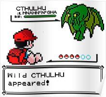 Cthulhu Pokemon Battle Poster