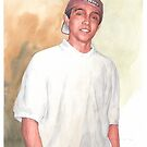 departed son watercolor by Mike Theuer