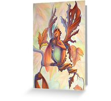 Maple Leaf Fairy Dragon Greeting Card