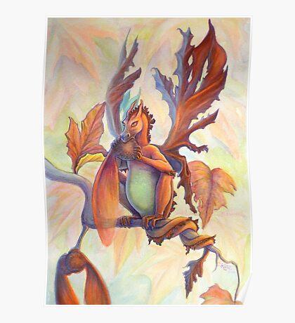 Maple Leaf Fairy Dragon Poster