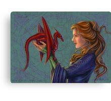 Young Red Dragon Canvas Print