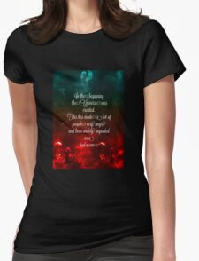 Hitchhiker's Guide Quote Womens Fitted T-Shirt