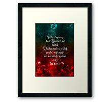 Hitchhiker's Guide Quote Framed Print