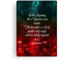 Hitchhiker's Guide Quote Canvas Print