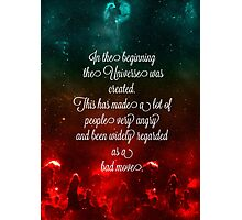 Hitchhiker's Guide Quote Photographic Print