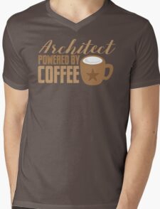 Architect powered by coffee Mens V-Neck T-Shirt