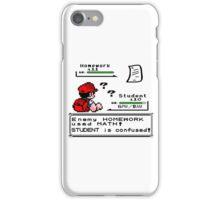 Homework Pokemon Battle iPhone Case/Skin