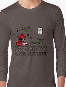 Homework Pokemon Battle Long Sleeve T-Shirt