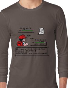 Homework Pokemon Battle Long Sleeve T-Shirt