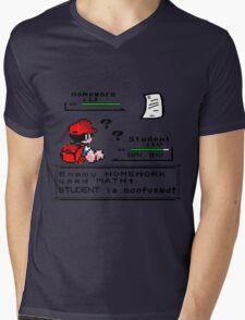 Homework Pokemon Battle Mens V-Neck T-Shirt