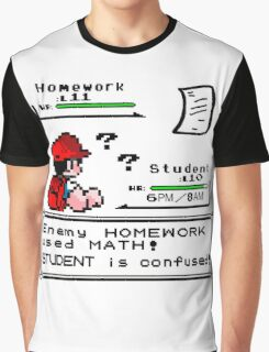 Homework Pokemon Battle Graphic T-Shirt