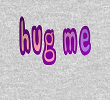 Hug Me Cute Pink and Purple Words Women's Fitted Scoop T-Shirt