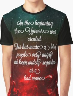 Hitchhiker's Guide Quote Graphic T-Shirt