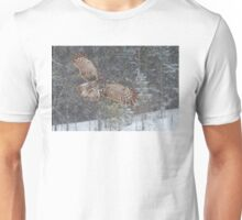 Through the Snow - Great Grey Owl Unisex T-Shirt