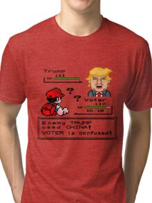 Donald Trump Pokemon Battle Tri-blend T-Shirt