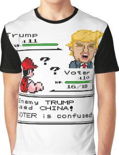 Donald Trump Pokemon Battle Graphic T-Shirt