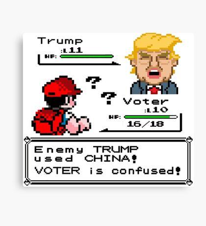 Donald Trump Pokemon Battle Canvas Print