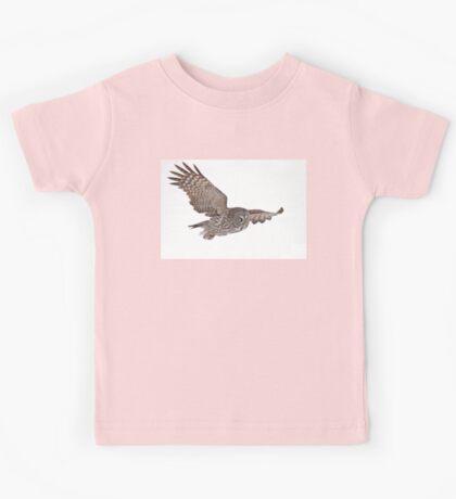 In Flight - Great Grey Owl Kids Tee