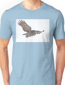 In Flight - Great Grey Owl Unisex T-Shirt
