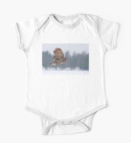 Flyby - Great Grey Owl One Piece - Short Sleeve