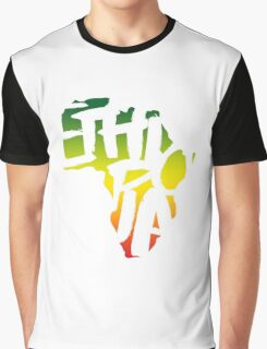 Ethiopia in Africa - White Graphic T-Shirt