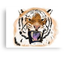 And the Tigers teeth were as daggers Canvas Print