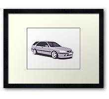 Honda Civic Aerodeck Framed Print