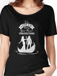 Swan Queen (b/w). Oncer Thing! Women's Relaxed Fit T-Shirt