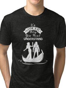 Swan Queen (b/w). Oncer Thing! Tri-blend T-Shirt