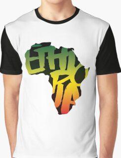 Ethiopia in Africa - Black Graphic T-Shirt