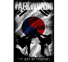 Taekwondo Mountain Fighter White Vintage 2 - Korean Martial Art  Photographic Print