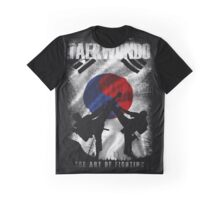 Taekwondo Mountain Fighter White Vintage 2 - Korean Martial Art  Graphic T-Shirt