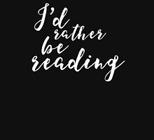 I'd Rather Be Reading (inverted) Women's Fitted Scoop T-Shirt