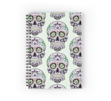 Single sugar skull 3 Spiral Notebook