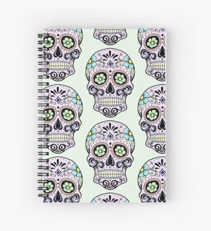 Single sugar skull 3 Spiral Notebook