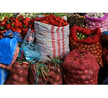 Vegetables at the Market Photographic Print
