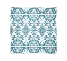 White seamless lace on blue background Scarf