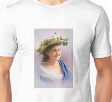 Colorized Vintge Portrait of Cissy Fitzgerald circa 1900  Unisex T-Shirt