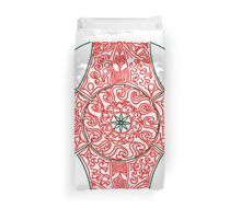 Green and Red Pattern Duvet Cover