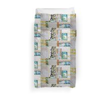 Fathermine Counting Coins and Cotton Bolls Duvet Cover