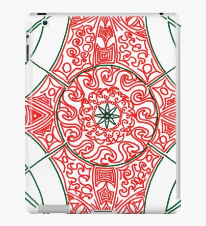 Green and Red Pattern iPad Case/Skin
